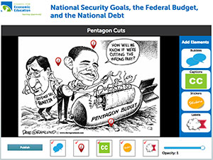 Image Annotation Tool for Pentagon Cuts Cartoon