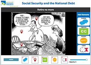 Image Annotation Tool for Retire No More Cartoon