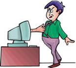 Computer Grabbing Man